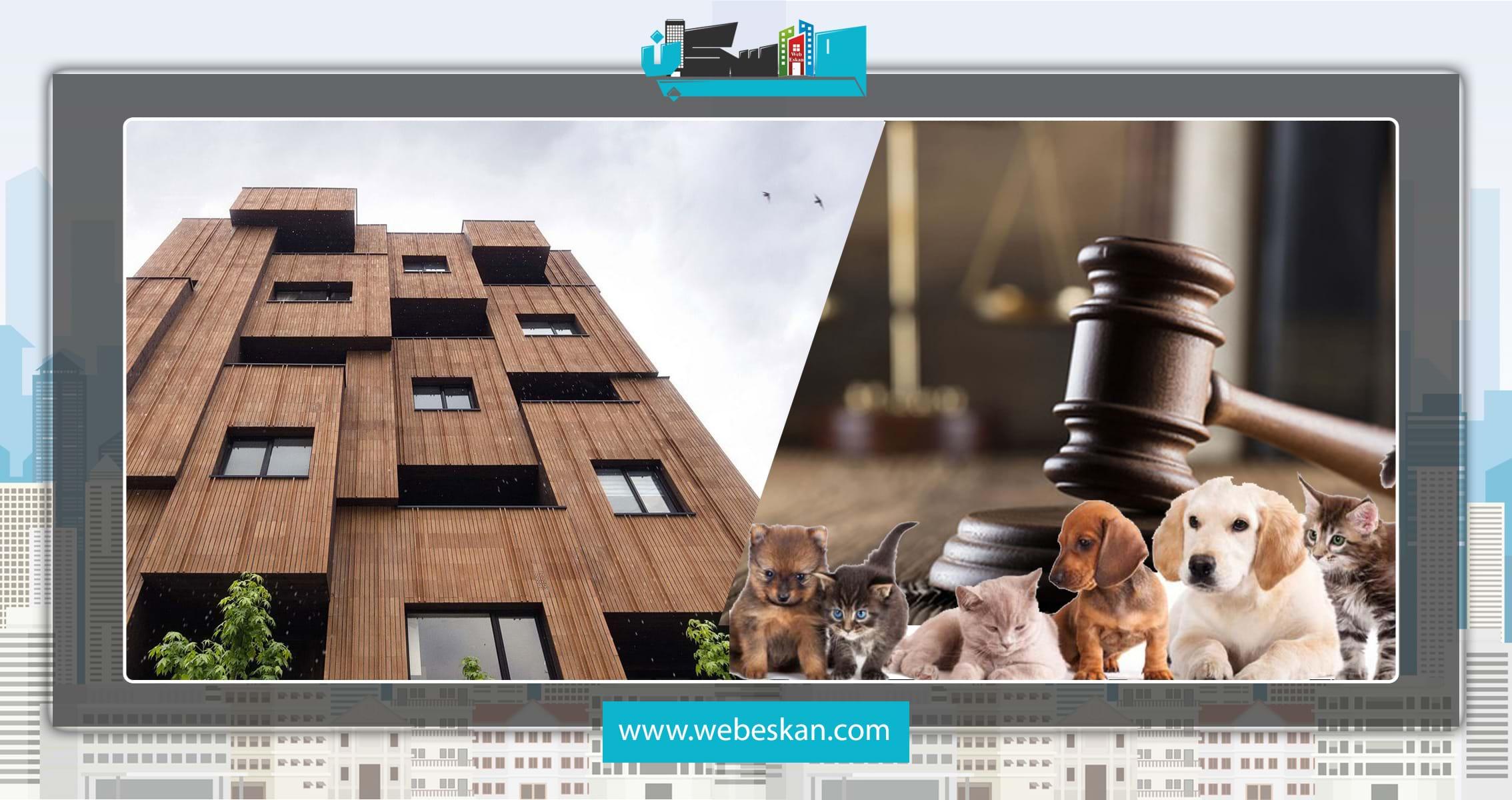 قوانین حاکم بر نگهداری حیوانات خانگی در آپارتمان ها